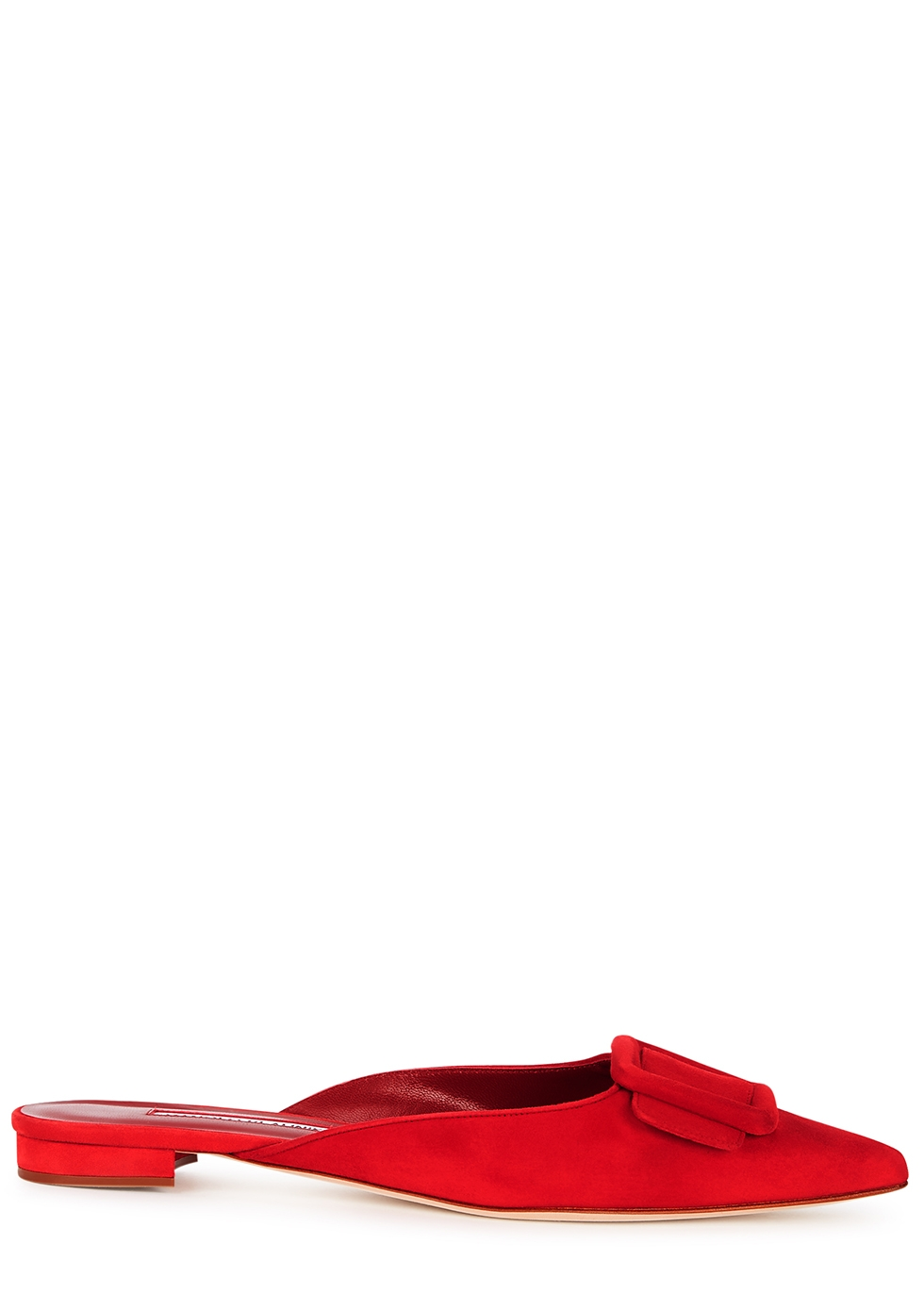 Maysale red suede mules