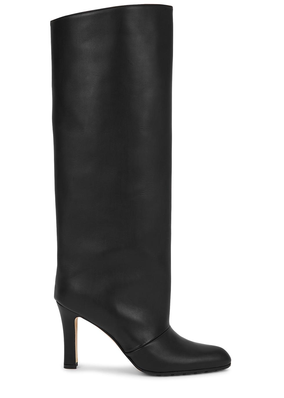 Khomobi 90 black leather knee-high boots