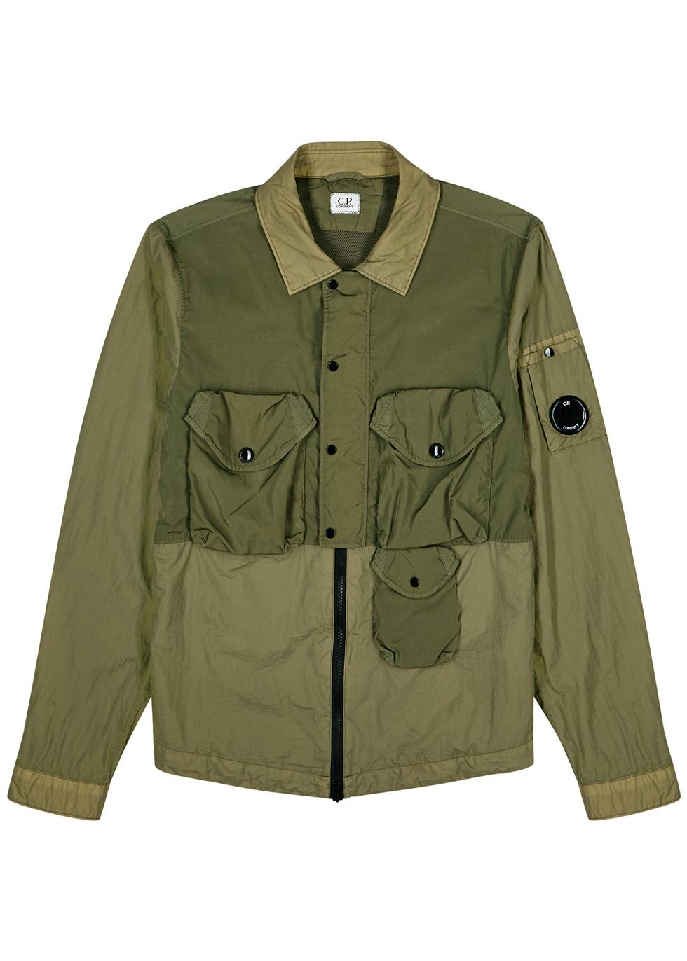 Taylon army green shell jacket