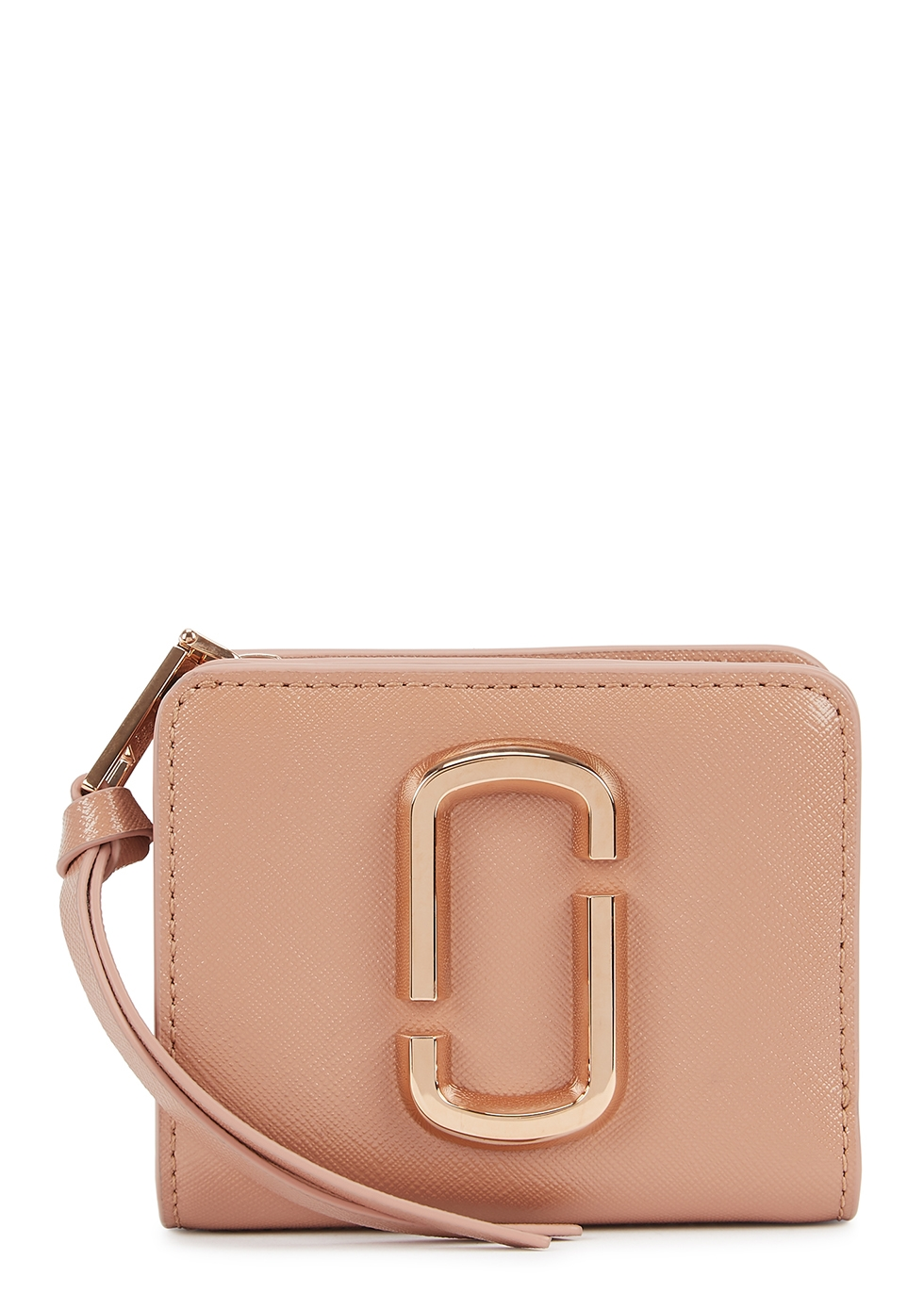 Snapshot pink leather wallet