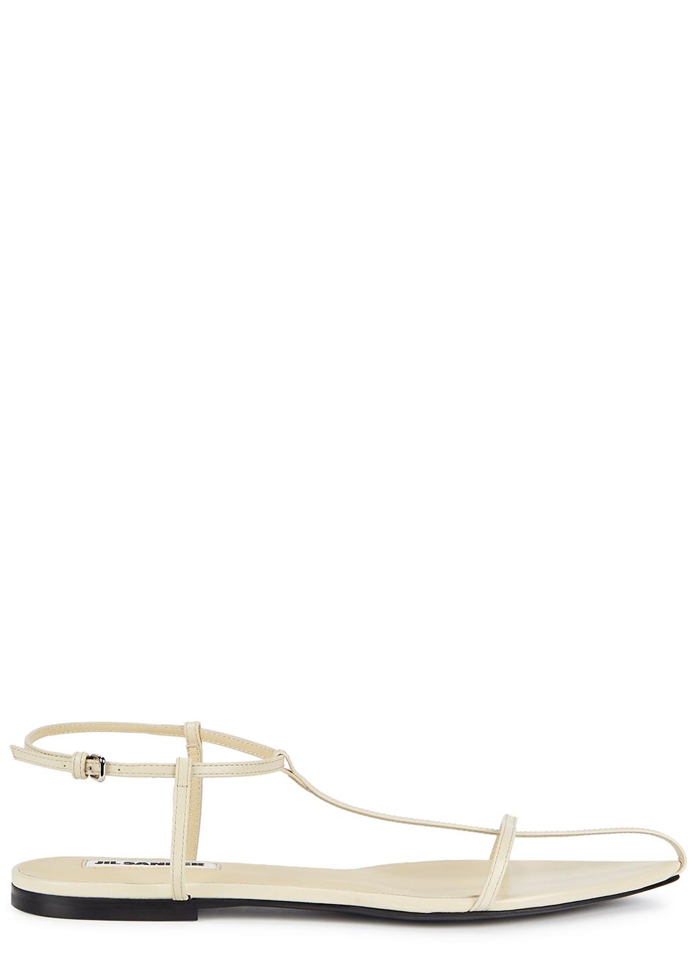 Jil Sander Pale yellow leather sandals