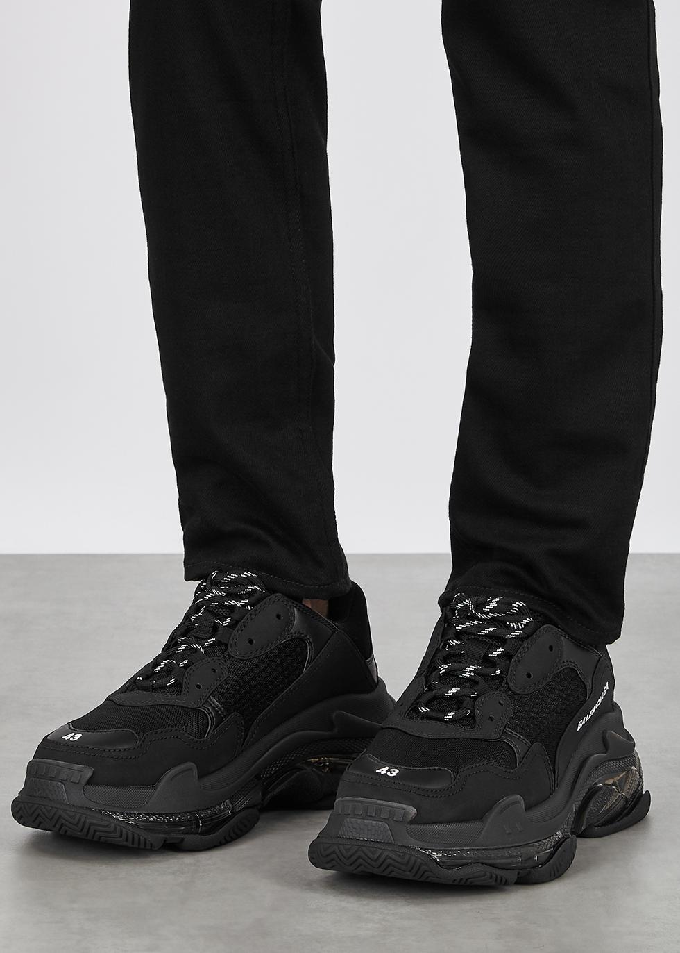 Balenciaga Triple S black mesh sneakers