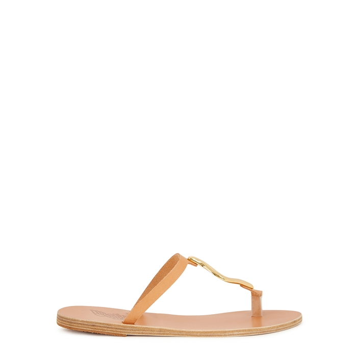 Ancient Greek Sandals ATEN BROWN LEATHER SANDALS