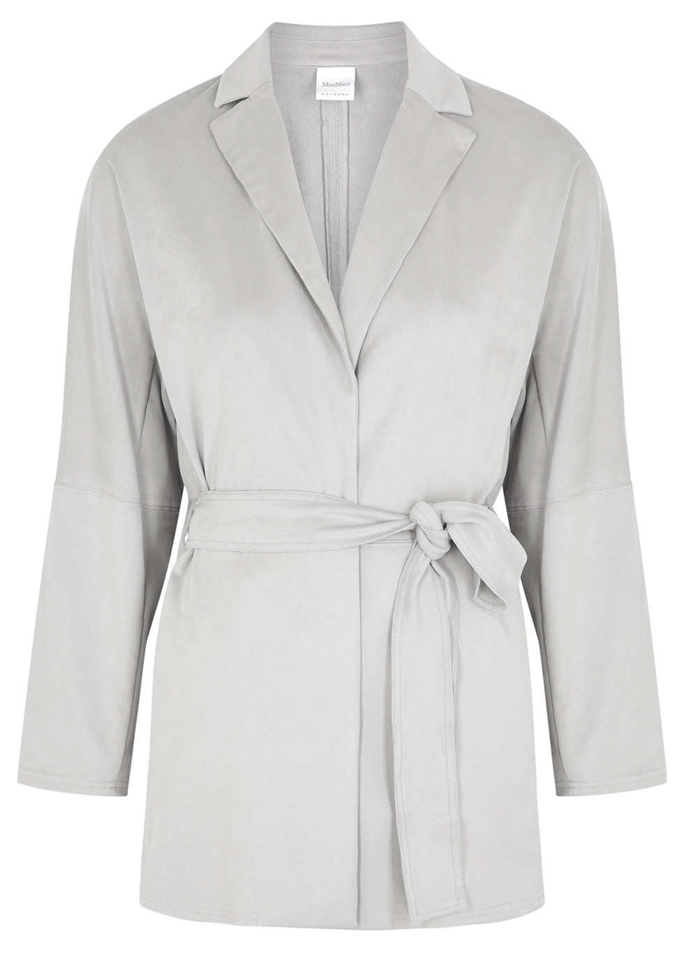 Beato light grey faux suede jacket