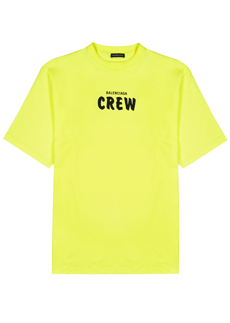 Balenciaga Crew neon yellow printed