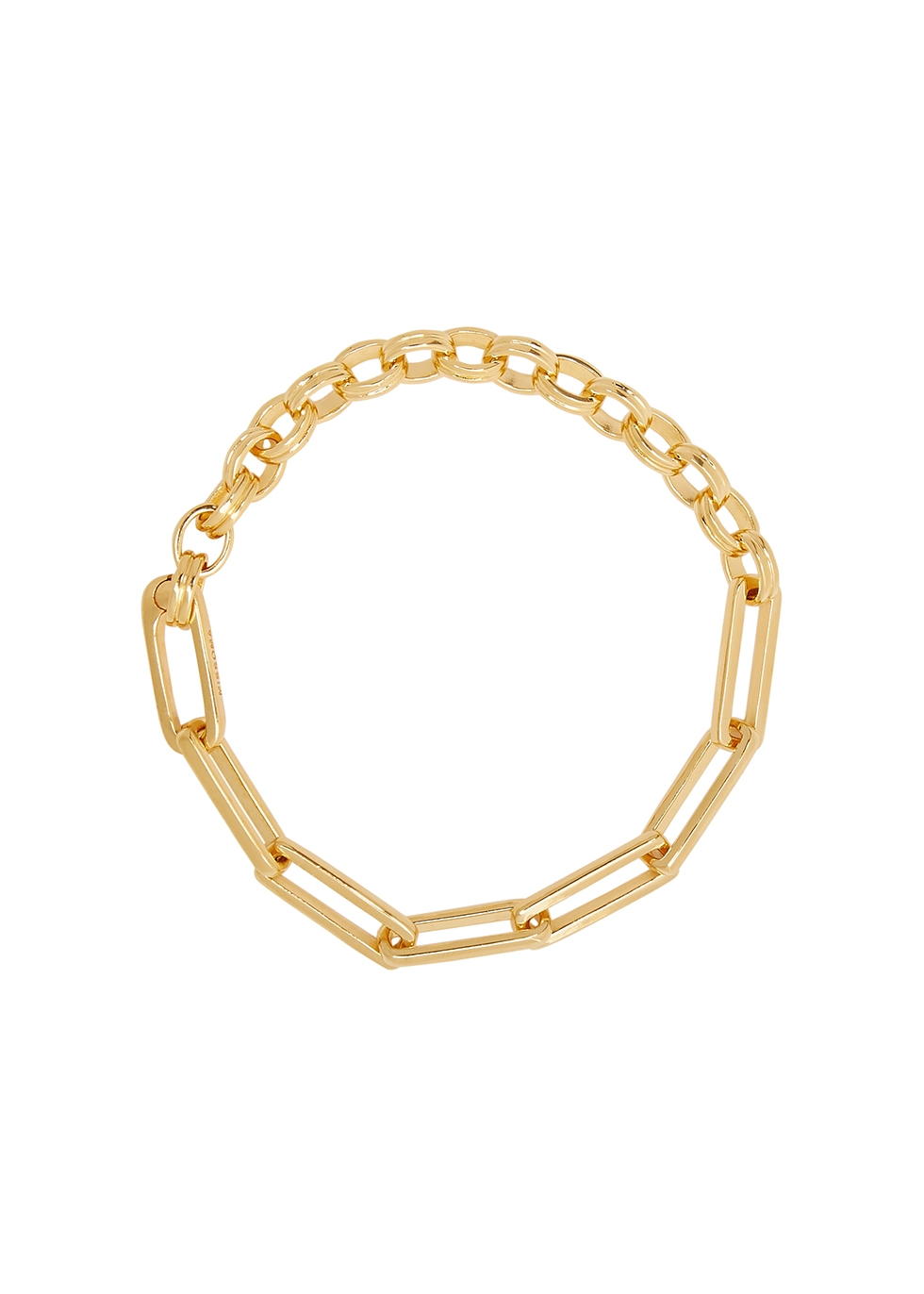 Deconstructed Axiom 18kt gold-plated chain bracelet