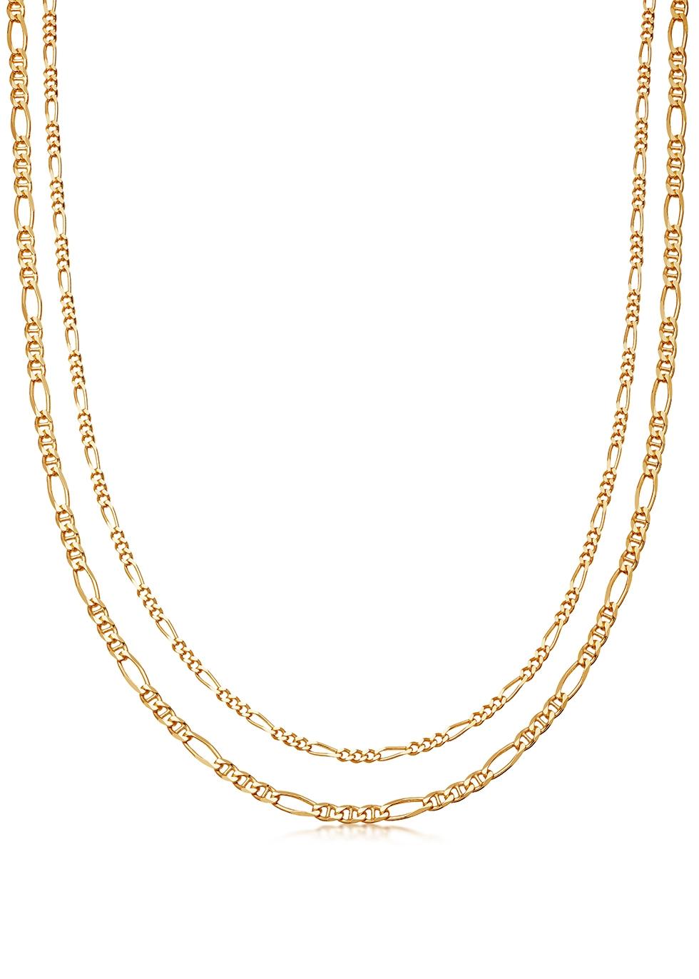 Filia 18kt gold vermeil double chain necklace