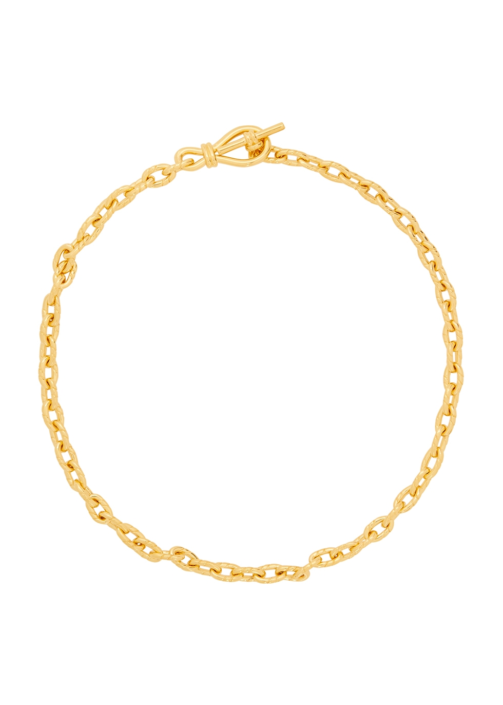 Twisted Link 18kt gold-plated necklace