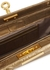 Luxy gold crocodile-effect leather clutch - gu_de