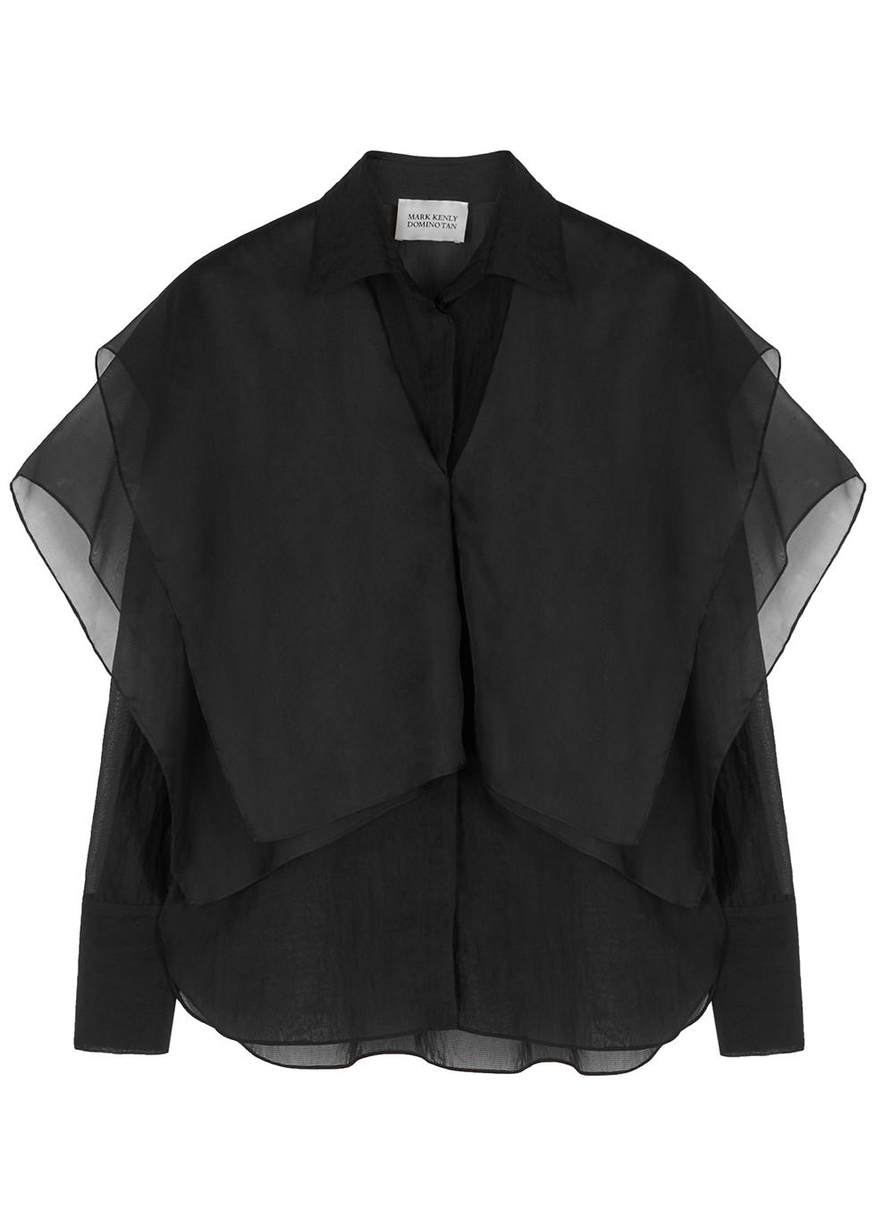 Sedina black organza blouse
