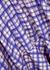Nida checked silk-twill maxi skirt - Mark Kenly Domino Tan