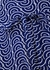 Emilia blue printed wrap top - Diane von Furstenberg