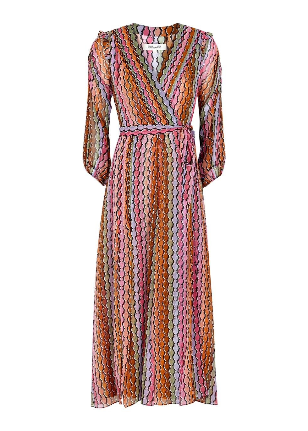 Bree printed silk-chiffon midi dress