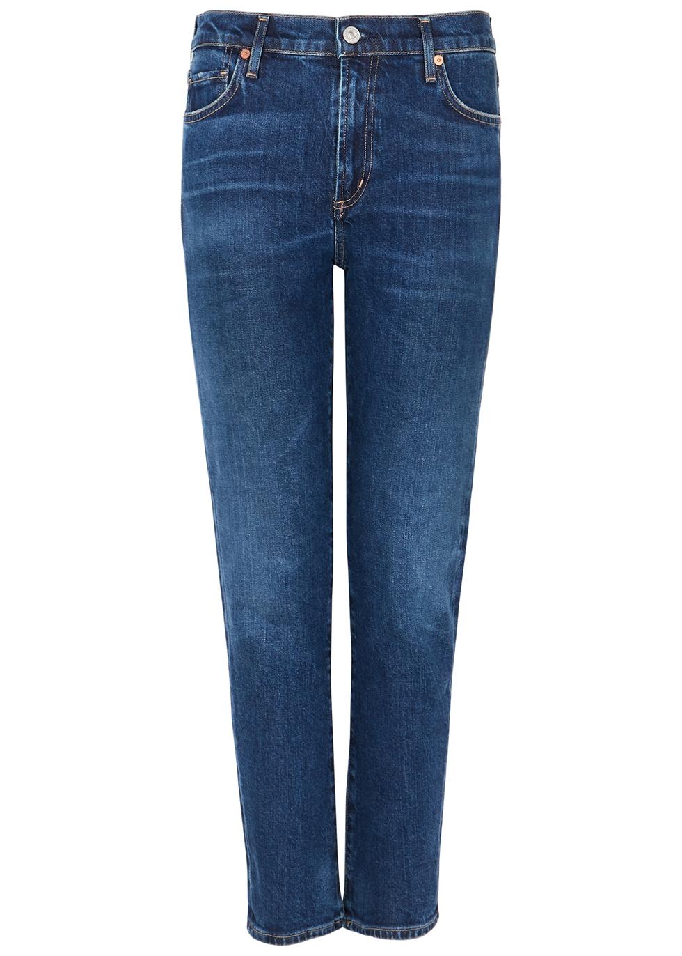 Harlow dark blue slim-leg jeans