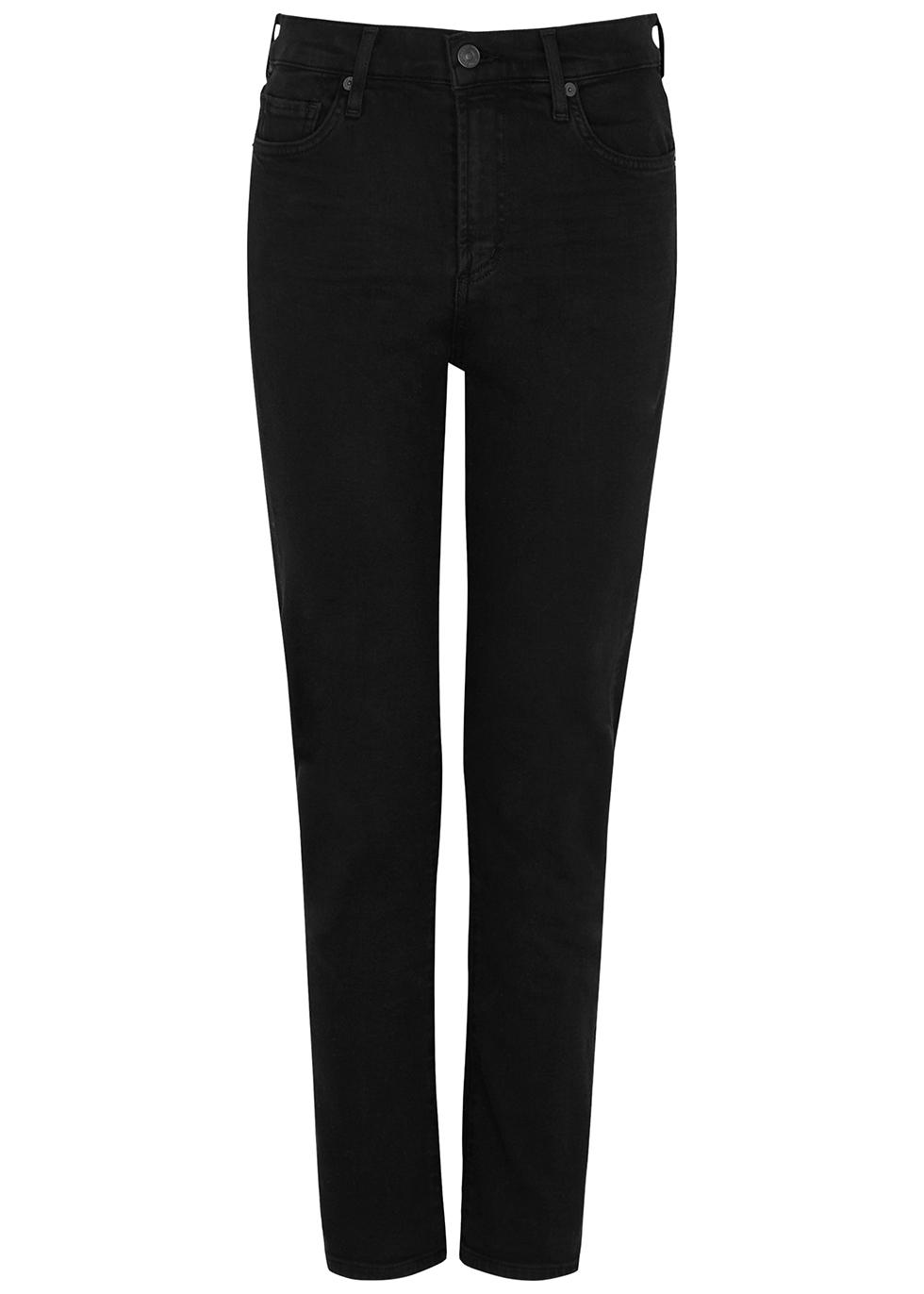 Harlow black slim-leg jeans