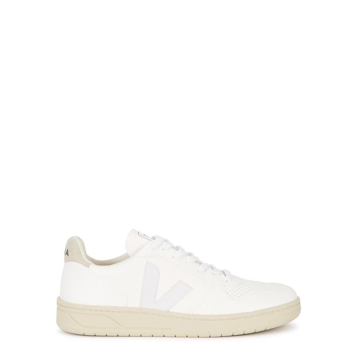 Veja C.w.l. V-10 Vegan Leather Sneakers In White,grey