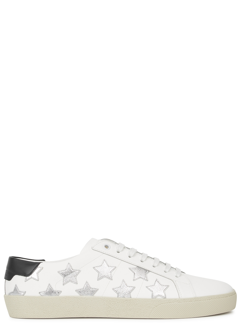 SL/06 white star-appliquéd leather sneakers
