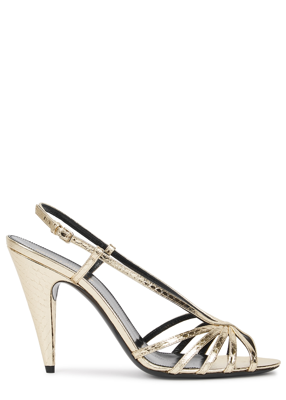 Romy 95 gold ayers sandals