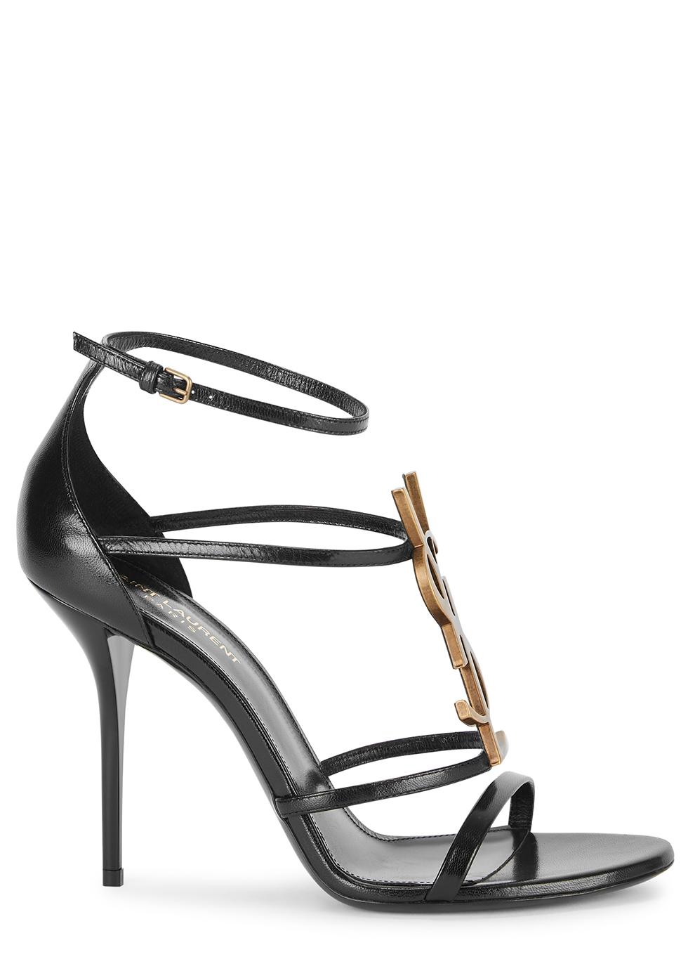 Cassandra 100 black leather sandals