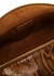 Olivia brown python-effect top handle bag - Rejina Pyo