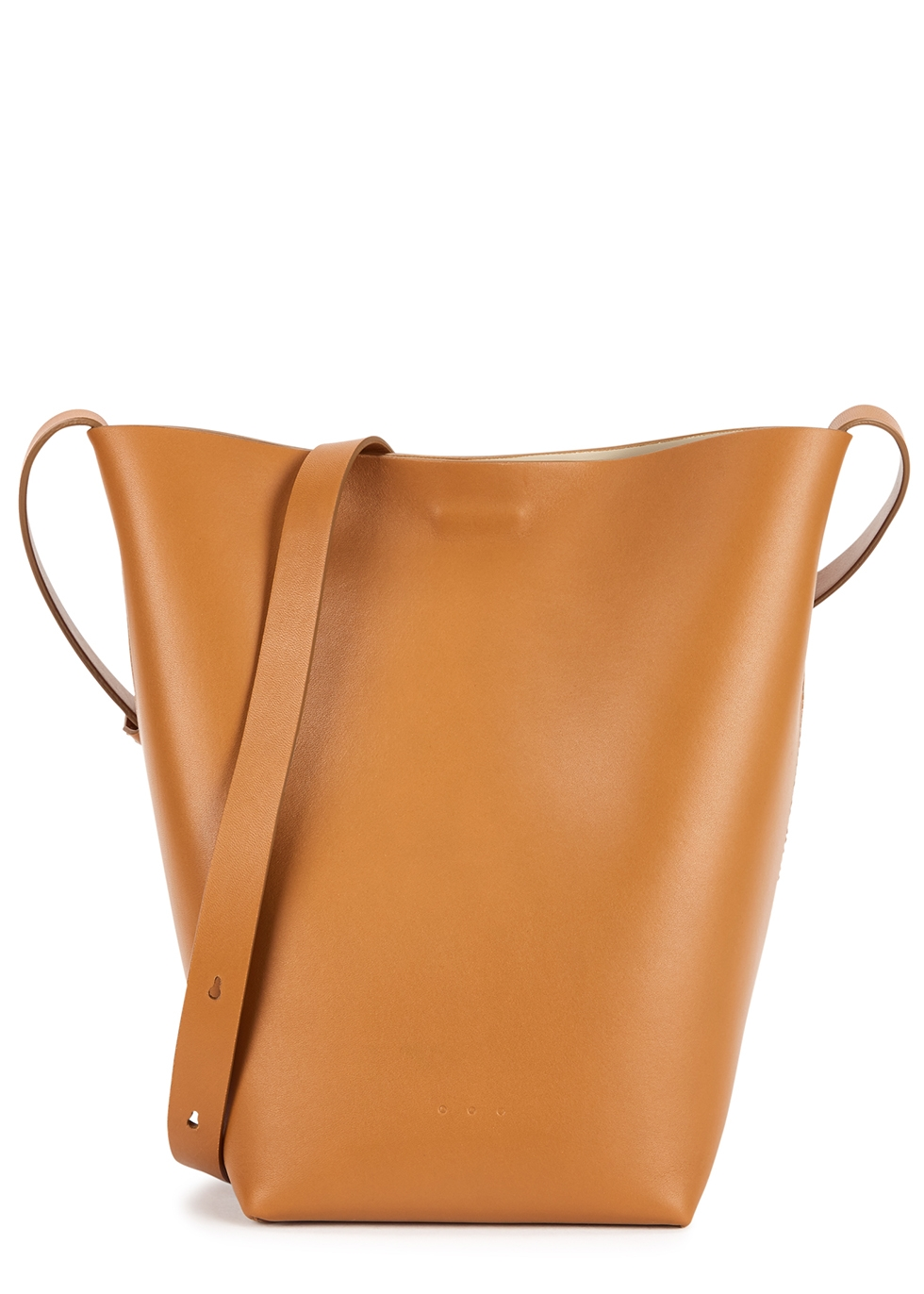 Midi Sac brown leather shoulder bag
