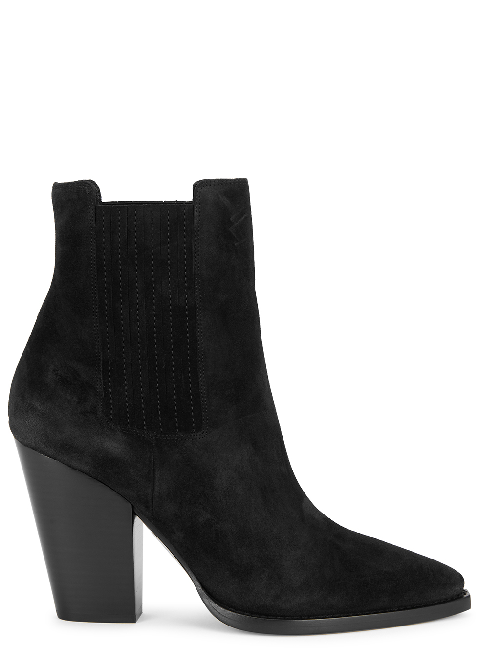 Theo 100 black suede Chelsea boots