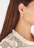 Coral sterling silver hoop earrings - Olivia Burton