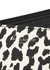 Monochrome leopard-print leather wallet - Saint Laurent