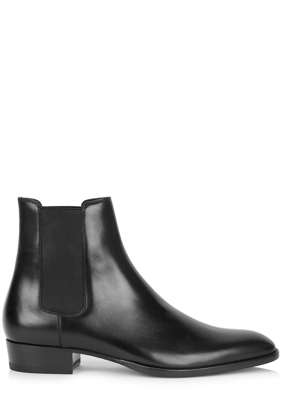 Wyatt black leather Chelsea boots