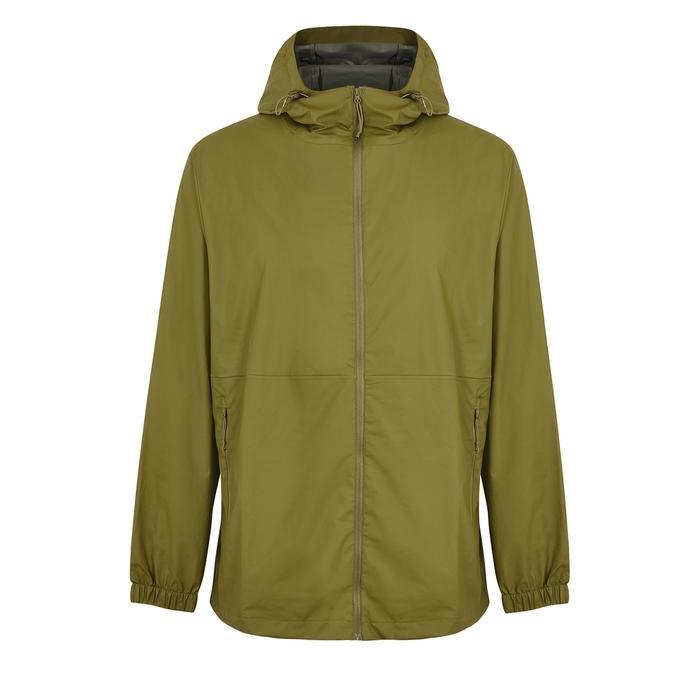 Rains Ultralight Green Rubberised Raincoat In Sage