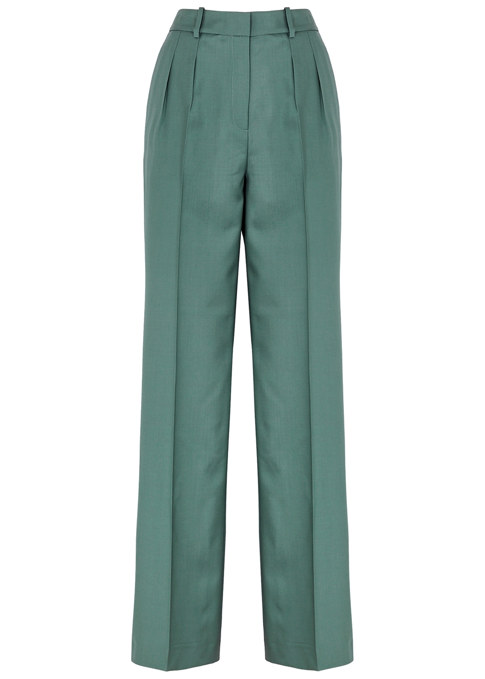 Sbiru dark green wool trousers