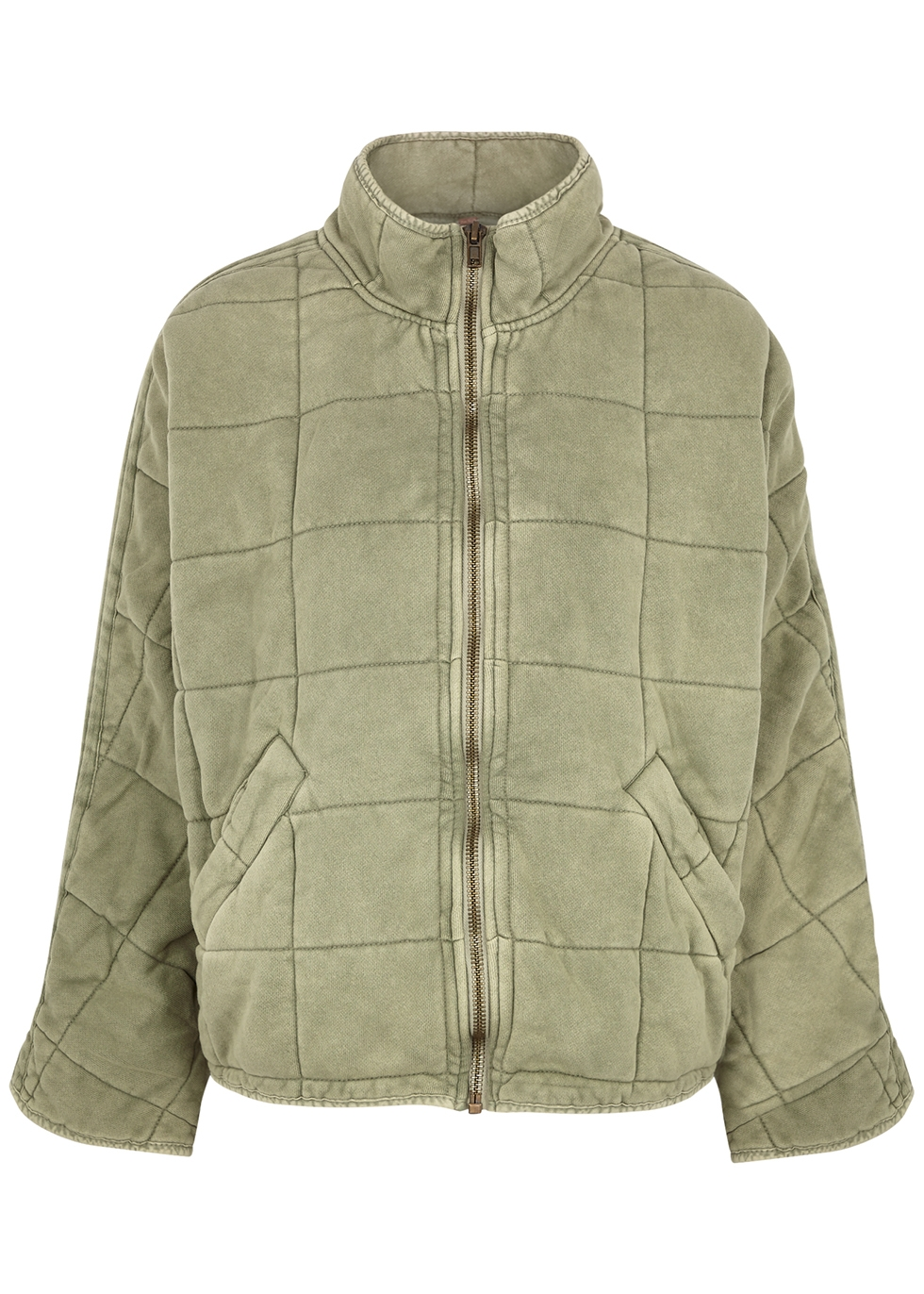 Sage quilted cotton jacket