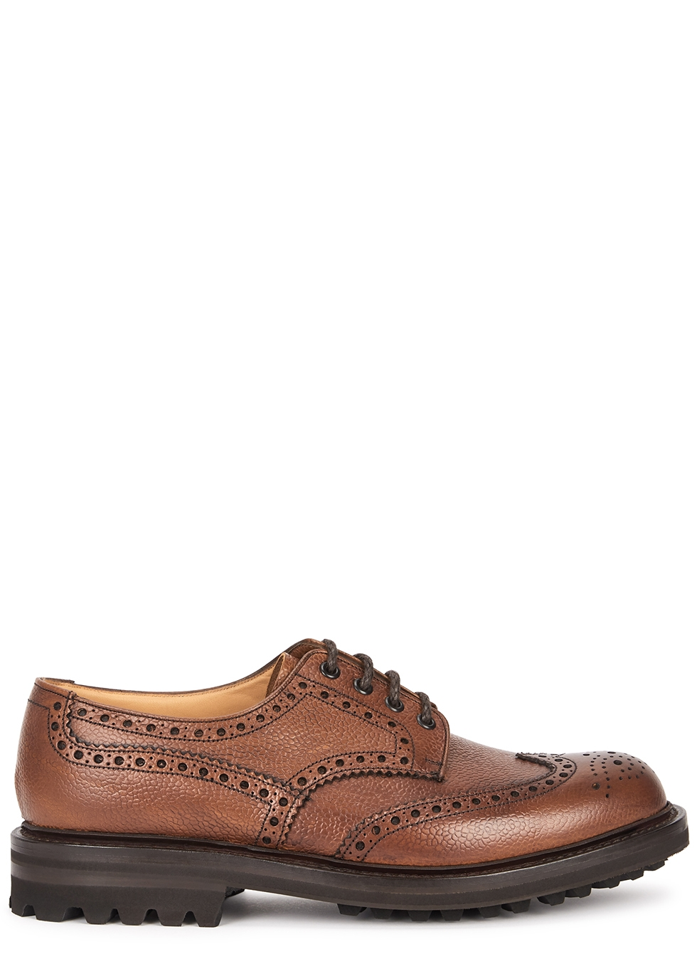 Mcpherson brown leather Derby shoes