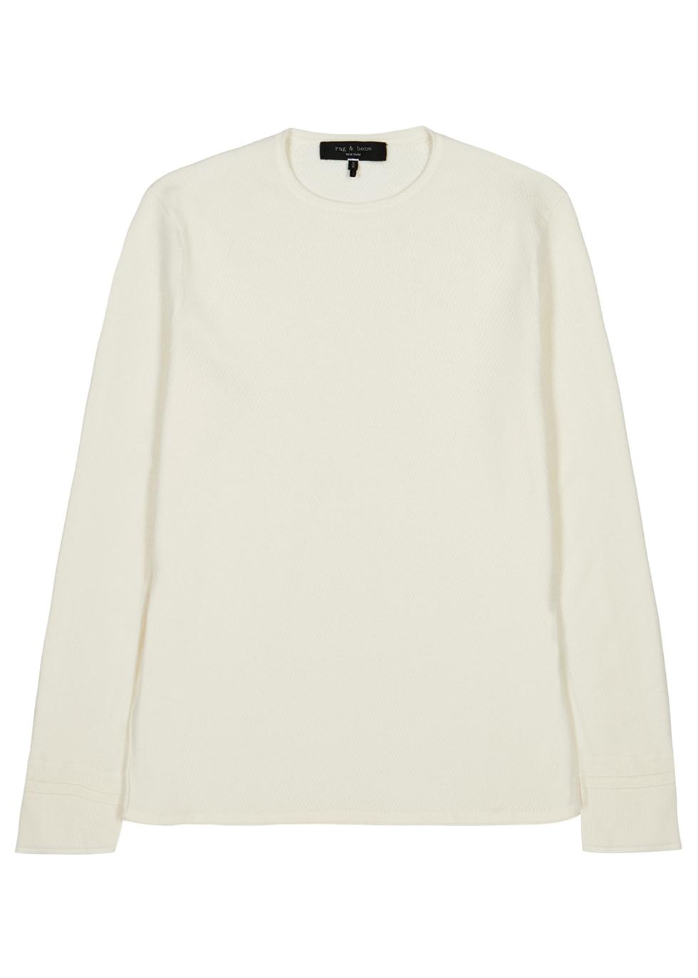 Ivory fine-knit jumper