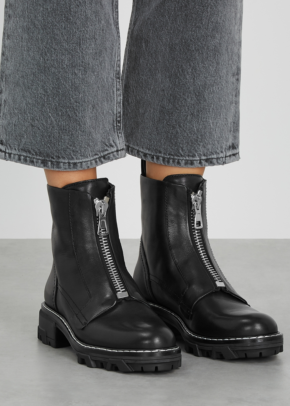 rag \u0026 bone Shiloh black leather ankle
