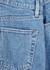 London blue cropped straight-leg jeans - SLVRLAKE