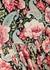 Floral-print satin midi dress - Paco Rabanne