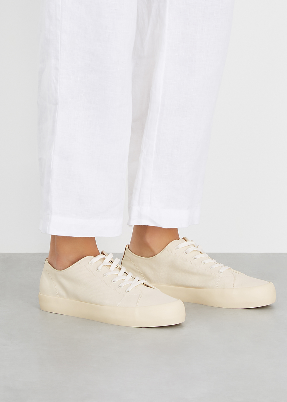 Vince Norwell cream canvas sneakers