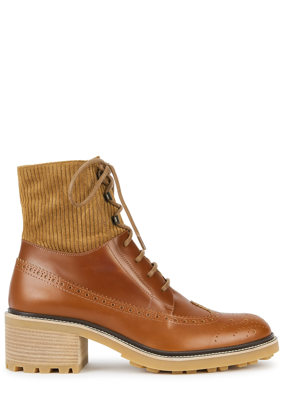 50 brown leather ankle boots