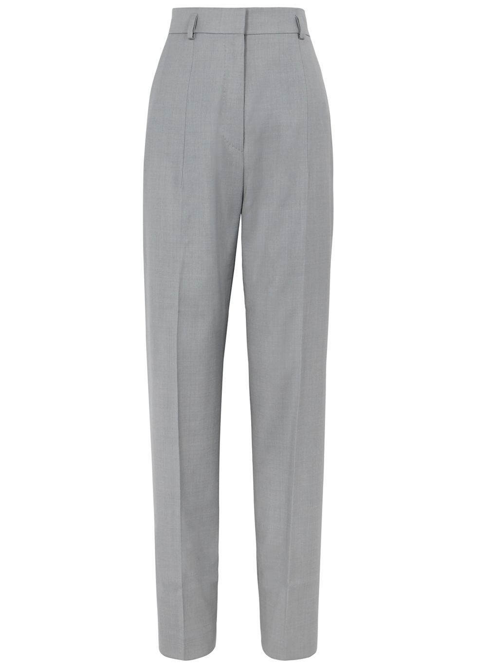 Helah grey straight-leg trousers