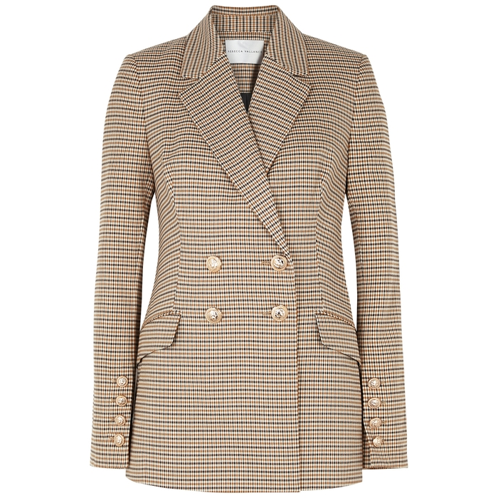 Rebecca Vallance COCOA CHECKED CADY BLAZER