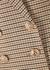 Cocoa checked cady blazer - Rebecca Vallance