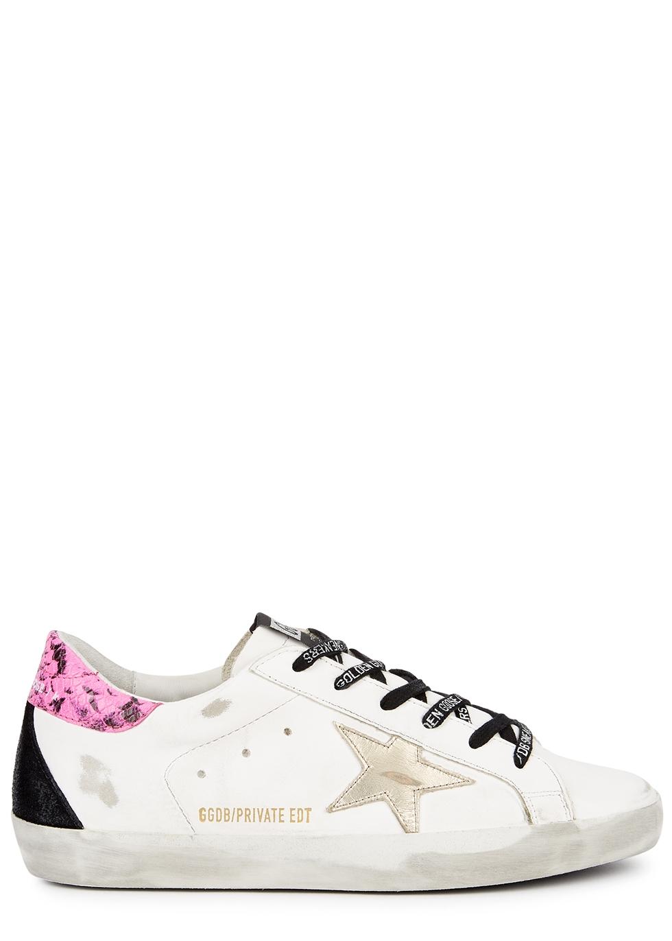 ladies designer white trainers