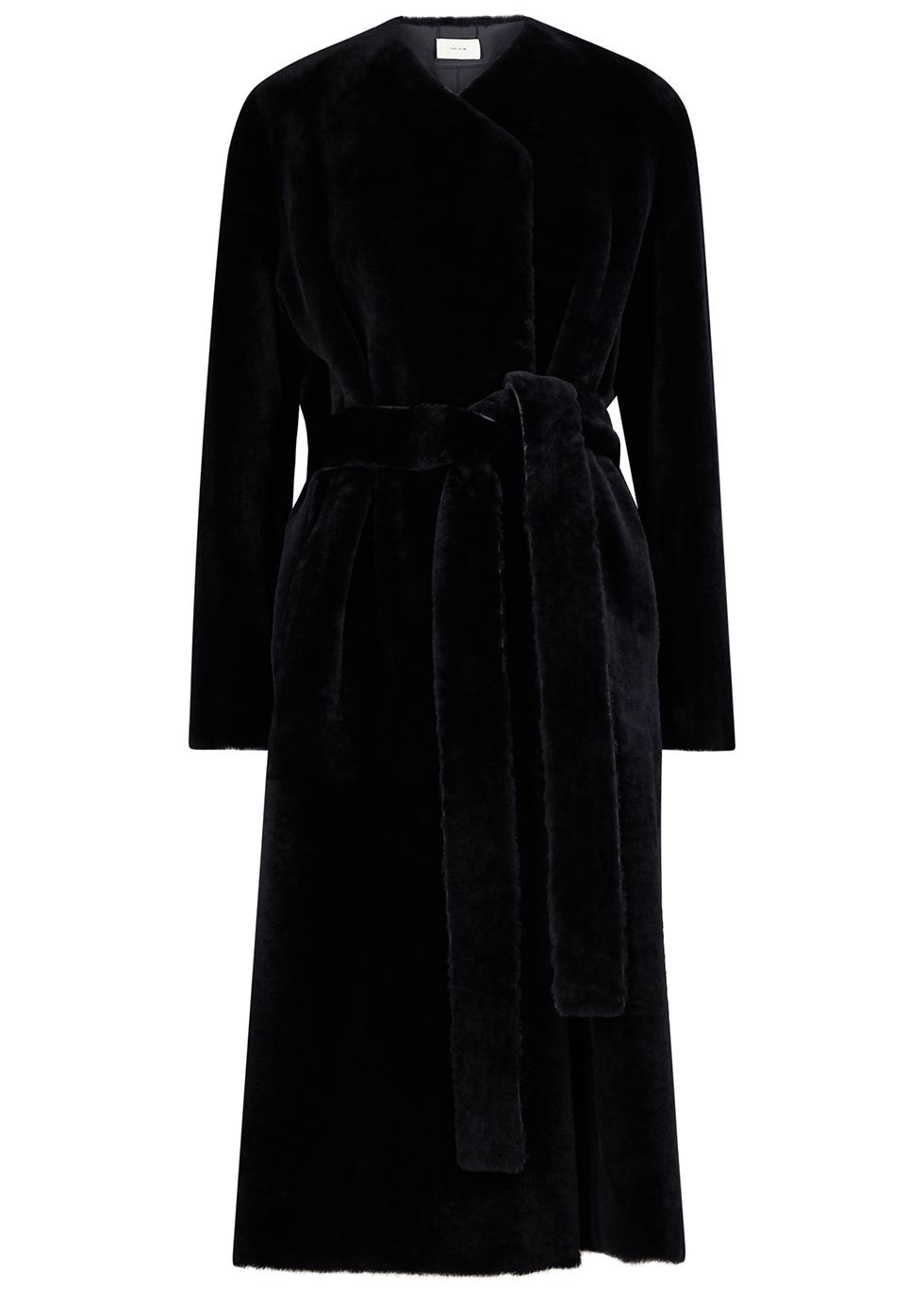 Ferin midnight blue shearling coat