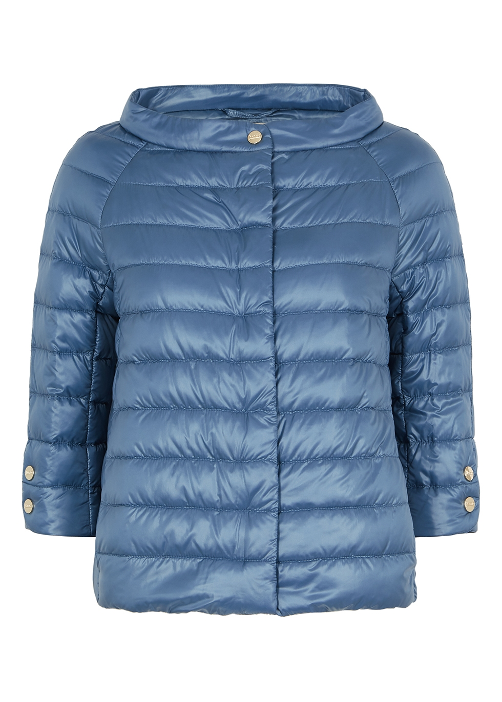 Icon blue quilted shell jacket