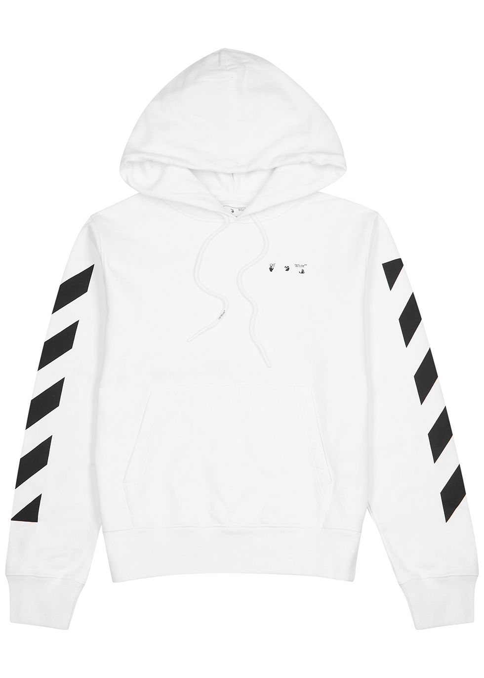 Pencil Arch printed hooded cotton sweatshirt