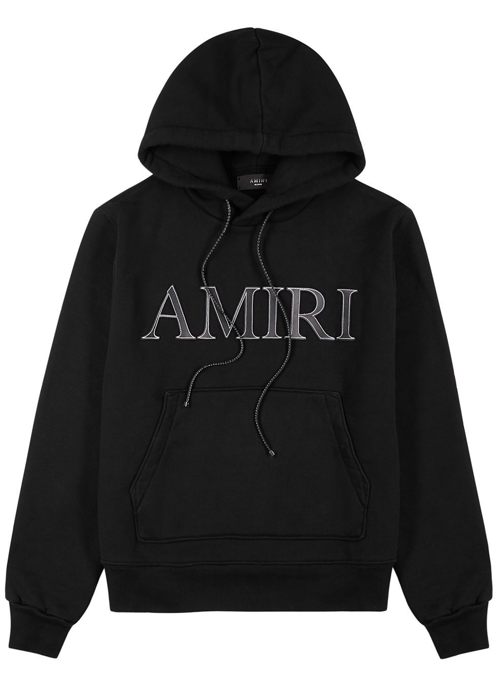 AMIRI distressed effect Logo Hoodie