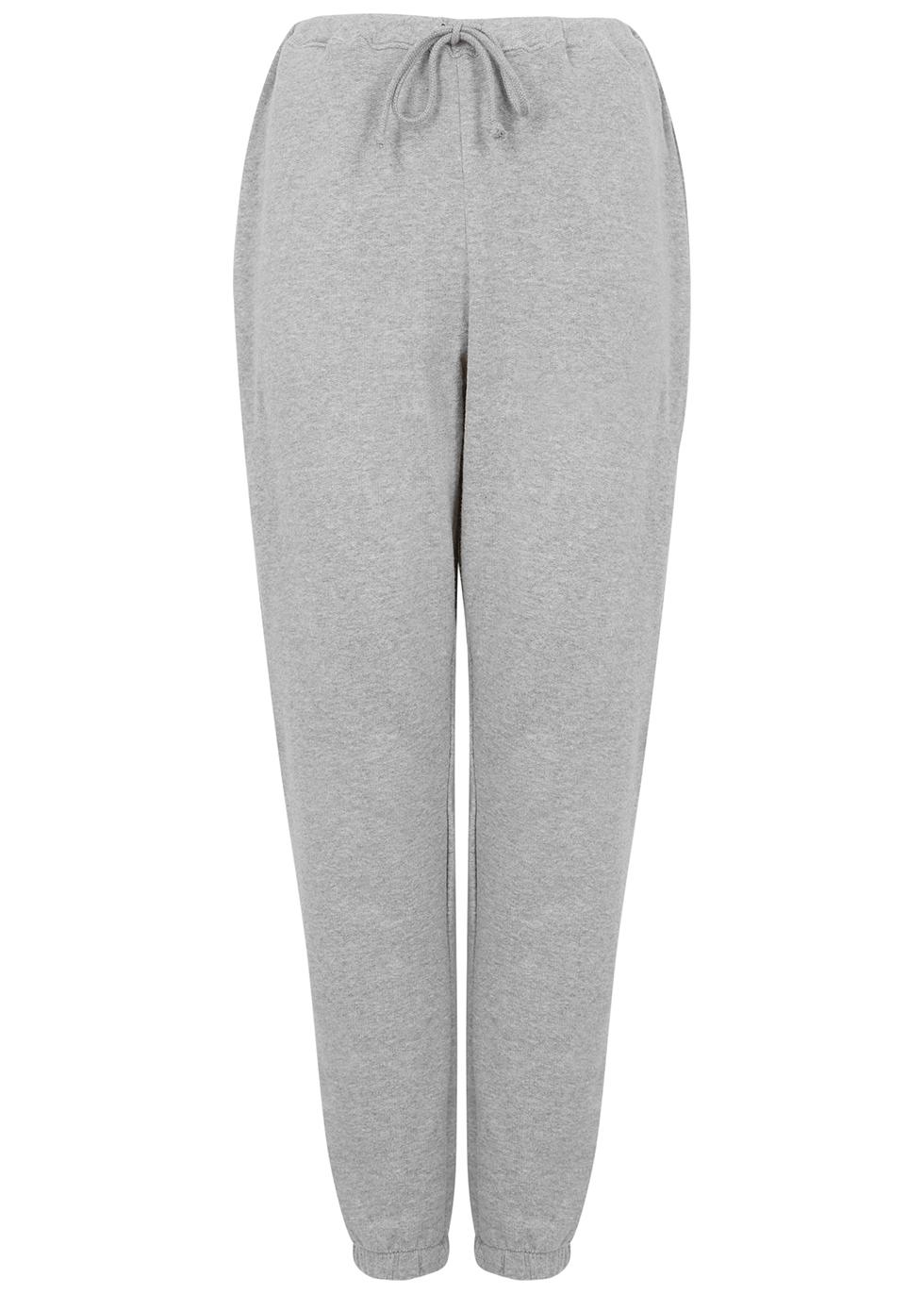 Neaford grey mélange stretch-cotton sweatpants