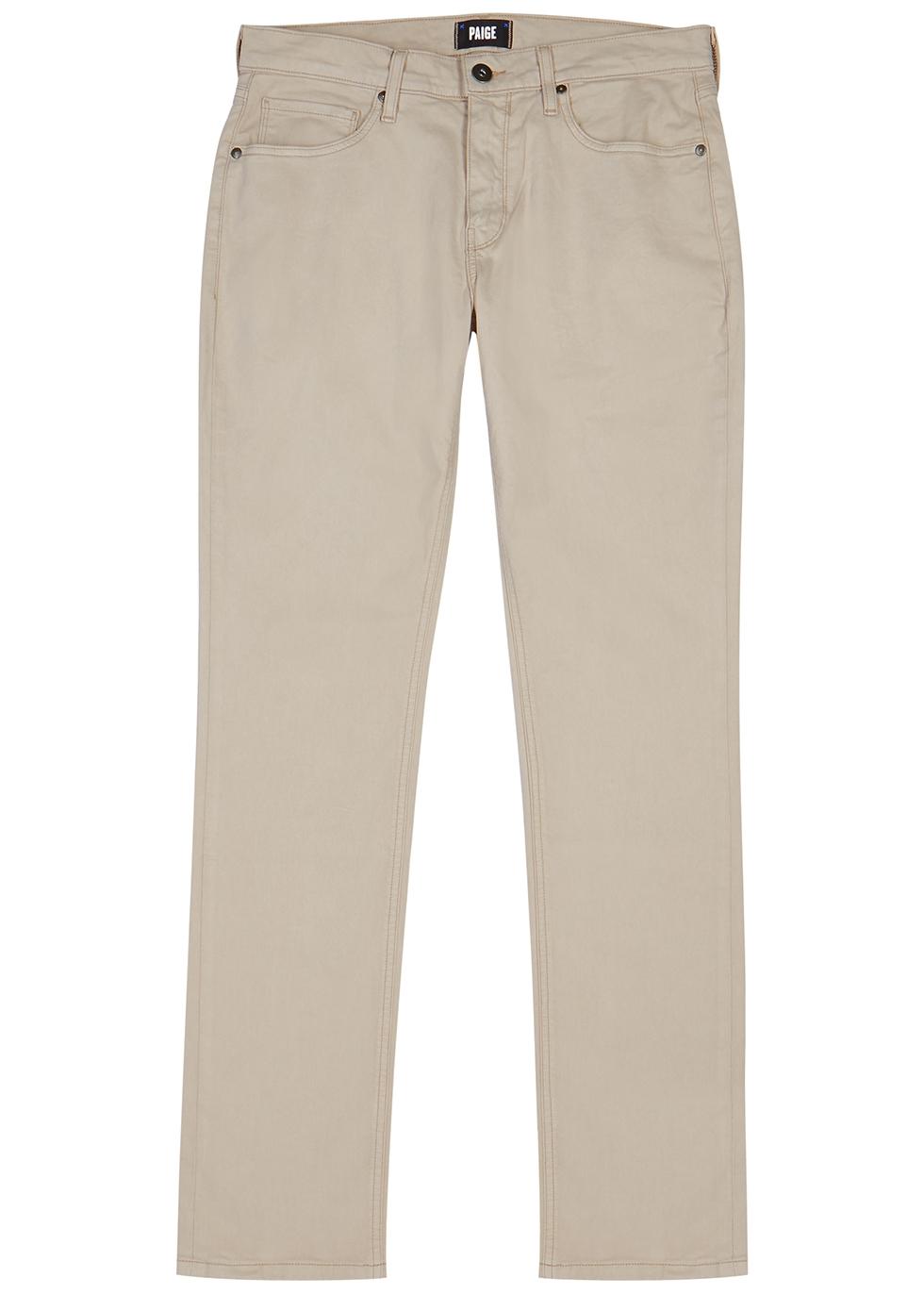 Federal stone straight-leg jeans