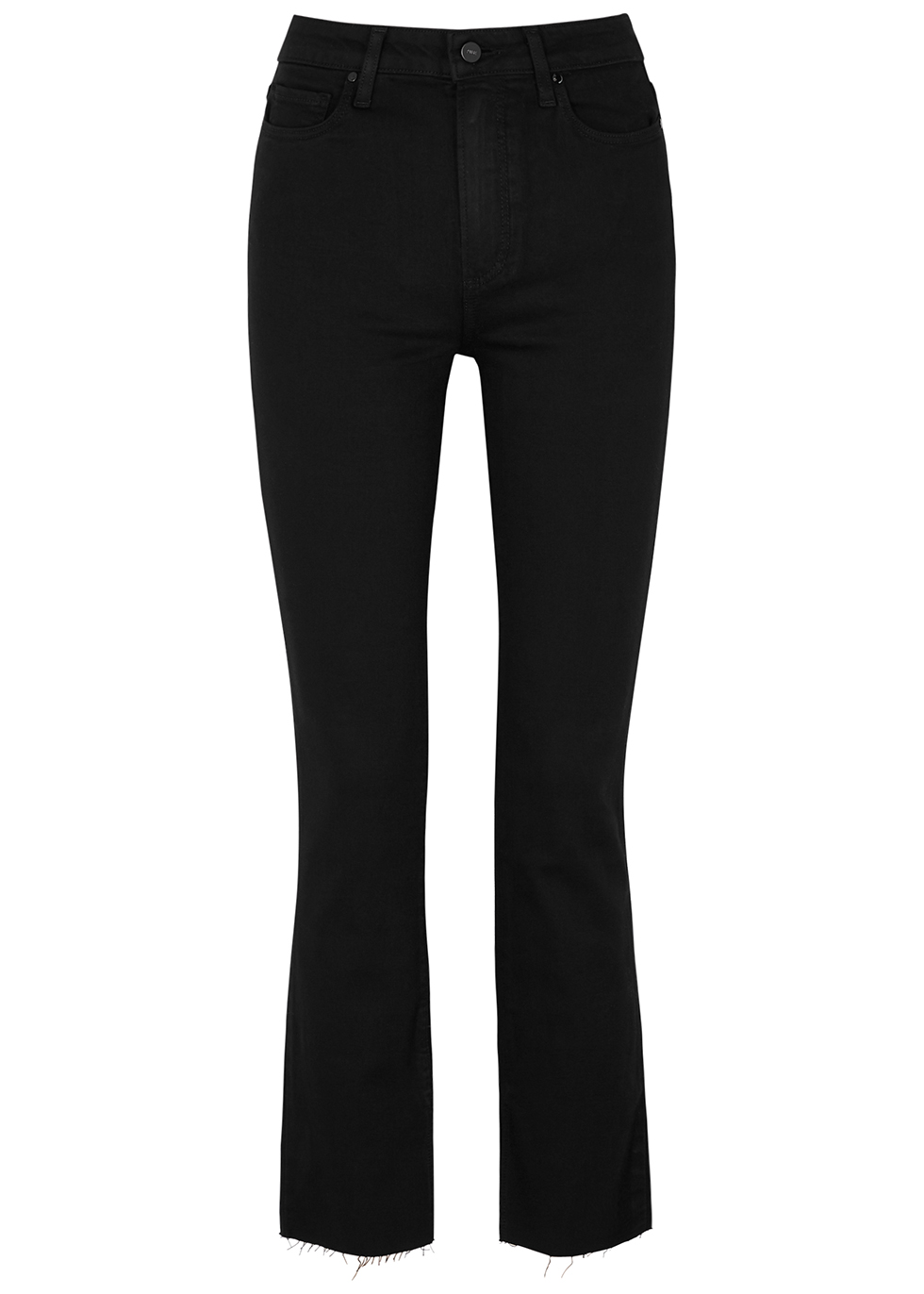 Cindy Transcend black straight-leg jeans